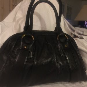 Banana Republic black leather with gold hardware